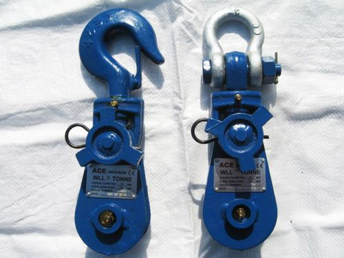 Lightweight Heavy Duty Snatch Blocks - Bush Sheave Forestry Lifting Pulling Swivel